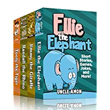 SAFARI COLLECTION (4 Books in 1): 20 Short Stories For Kids, Just For Fun Activities, Games, Jokes, and More! (Fun Time Reader)
