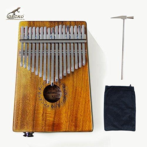 GECKO K17KEQ 17 key Kalimba K17KEQ African Thumb Piano Finger Percussion Keyboard Electric Kalimba by GECKO