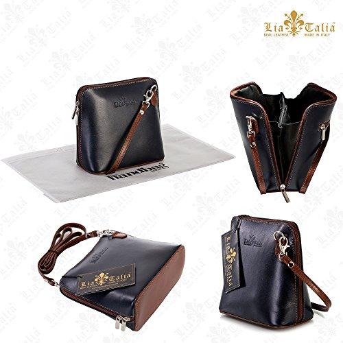 Abby Handbag Green Italian amp; with Body Mini Leather Dust 2012 Womens Cross 2018 a Brown Bag Genuine LiaTalia Protection wx0COqaW