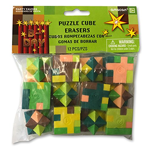 Minecraft 'TNT Party' Puzzle Erasers / Favors (12ct) for $<!--$6.99-->