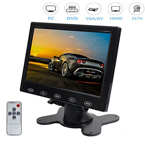PONPY 7'' Ultra Thin 16:9 HD 800x480 Color TFT LCD Display Headrest Monitor Touch Button Monitor Screen AV HDMI VGA Video Input by PONPY (Image #7)