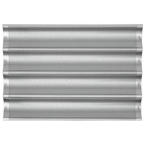 Chicago Metallic Uni-Lock Perf. Aluminum 4-Mold Baguette Pan by The Uni Lock (Image #1)