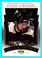 2007-08 Upper Deck MVP Game Faces #GF5 Peter Forsberg nashville predators