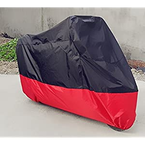 "Tokept Black and Red Motercycle Cover Waterproof Sun UV Dustproof XL 96"" for All Scooter and Mopeds-Yamaha Honda Suzuki Kavasaki Ducati BMW"