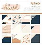 My Mind's Eye Double-Sided Paper Pad 6''X6'' 24/Pkg-Blush W/Rose Gold Foil, 12 Designs