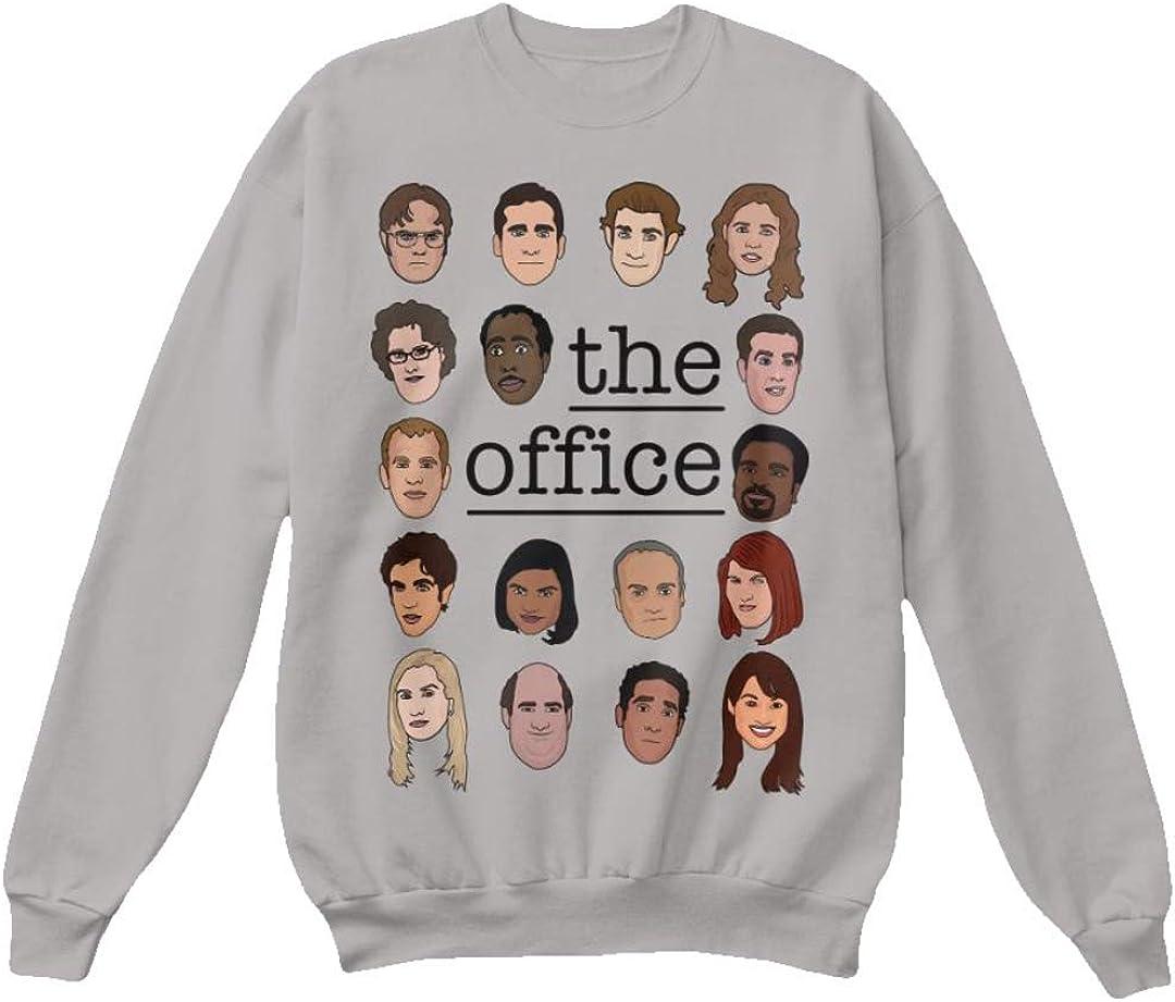 superhotapparel The Office tv Show Sweatshirt cast Cartoon face Dwight Schrute Sweater Jumper Merchandise Gifts