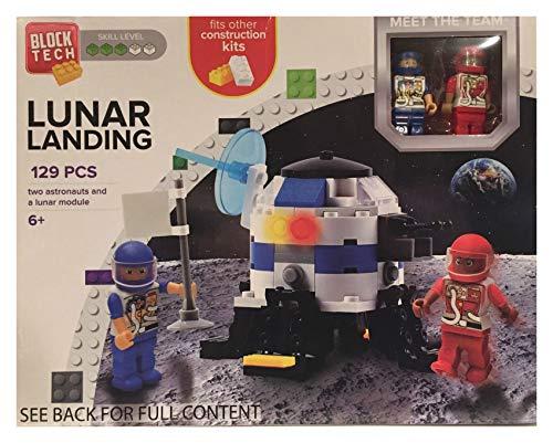 Block Tech Lunar Landing 129 Pieces Astronauts & Lunar Module Moon Construction Kit