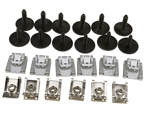 Mercedes Engine Parts (24 x Sets Under Engine Cover Undertray Fitting Clip Kit Screw For MERCEDE W211)