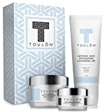 Anti Aging Skin Care Kits: Face Care Set: Glycolic Acid Face Cleanser/Alpha Hydroxy Face Wash, Glycolic Acid 10% Daily Moisturizer & Eye Cream for Dark Circles. Perfect Gift Set Kit for Women & Men Review