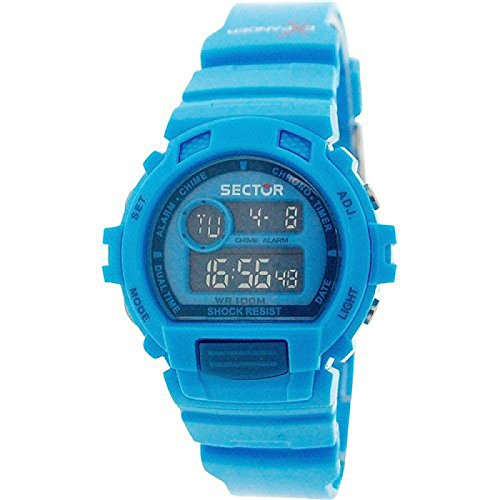 Sector Unisex Digital Chronograph Backlight Blue Plastic Strap Watch R3251172017