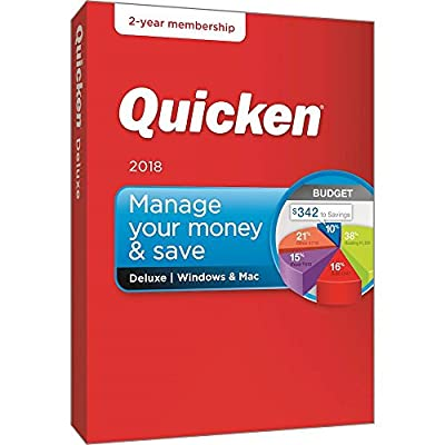 Quicken Deluxe 2018 Release - 24-Month Personal Finance & Budgeting Membership