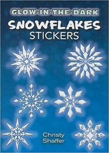 GlowintheDark Snowflakes Stickers Dover Little Activity Books - Snowflake window stickers amazon
