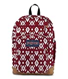JanSport JS0A2SDD Cool Student Backpack, Viking Red Ikat Diamonds - One Size