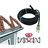 "37 Feet Professional Self-Regulating Cable 120 Volt with 48"" Lead and Plug"