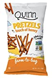 Quinn Snacks Non-GMO and Gluten Free Pretzels, Touch of Honey, 7 Ounce (8 Count)