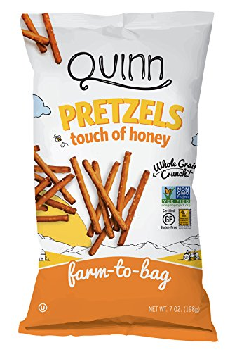 Quinn Snacks Non-GMO and Gluten Free Pretzels, Touch of Honey, 7 Ounce (3 Count) -