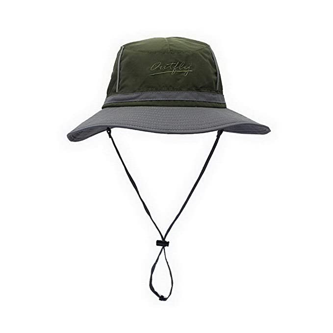 14669df88c2 Sun Hat UV Protection Outdoor Bucket Hat for Fishing Camping Cycling Army  Green