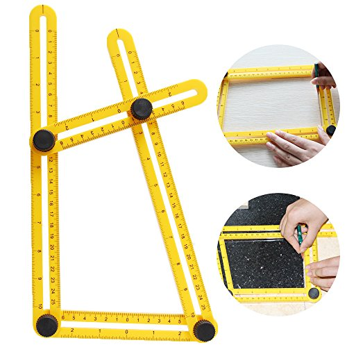 Price comparison product image Multi Angle Measuring Ruler,  Letsfunny Angle-izer,  Multi-Angle Template Tool,  Angleizer for Handymen,  Builders