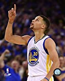 #9: Stephen Curry Golden State Warriors 2015-2016 NBA 73rd Win Action Photo (8