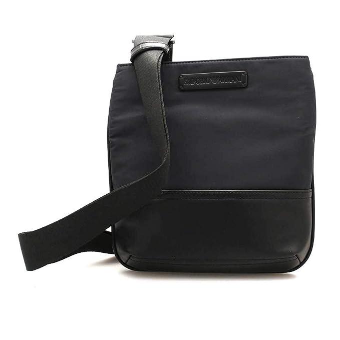 31f60e1265 Emporio Armani borsa uomo a tracolla borsello originale nero: Amazon ...