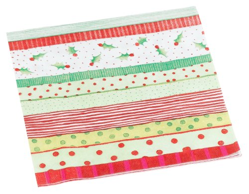 Entertaining with Caspari Jolly Holly Paper Lunch Napkin Package, ()