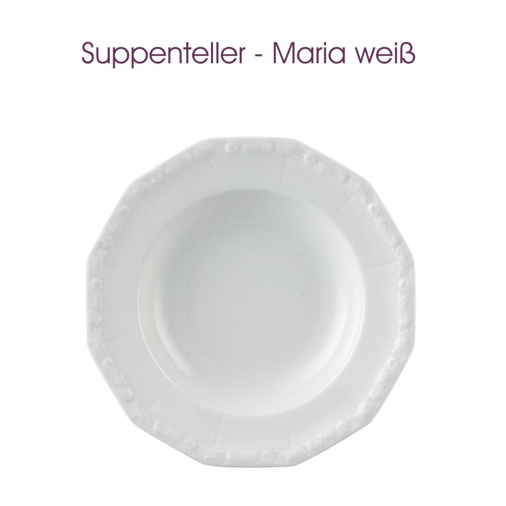 Ø ca Frühstücksteller Dessertteller Rosenthal 20 cm Maria weiß