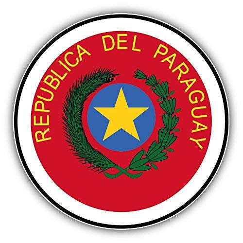 Mildred Rob Paraguay Coat of Arms Home Decal Vinyl Sticker 5 X 5 inches
