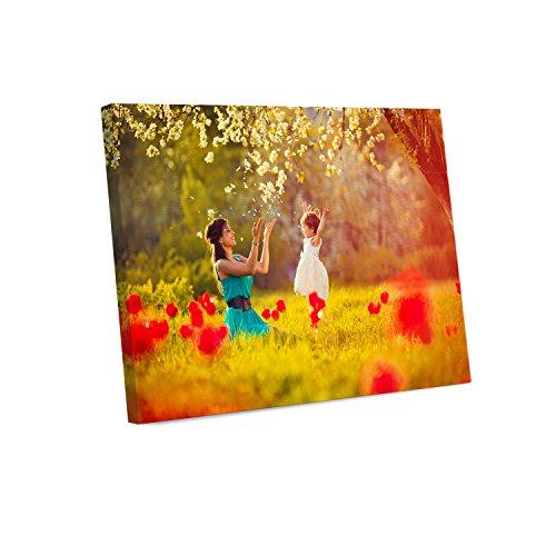 - Your Photo or Art on Custom Canvas Print 14 x 11 Stretched Over Wooden Frame