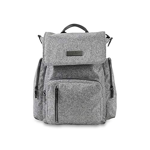 JuJuBe Be Sporty Backpack/Diaper Bag Onyx Collection, Gray Matter, One ()