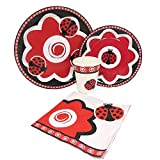 Blue Orchards Ladybug Standard Party Packs (65+ Pieces 16 Guests!), Ladybug Birthday Supplies, Plate Napkin Sets, Party Decorations