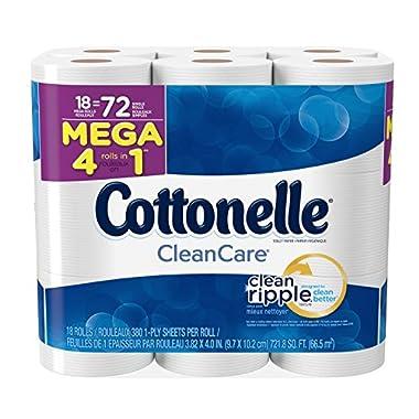 Cottonelle Clean Care Mega Roll Bath Tissue, 18 Count