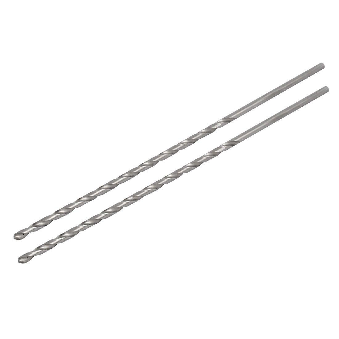 sourcingmap® 6mm Dia 300mm Long HSS Straight Round Shank Twist Drill Bit Drilling Tool 2pcs US-SA-AJD-281374