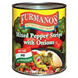 Furmano's Mixed Pepper Strips with Onions - #10 Can