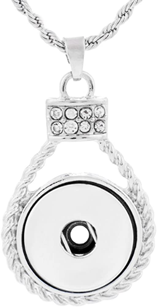 Fits Ginger Snaps Faith silver SNAP Interchangeable JEWELRY Button charm 18mm US