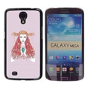 Funda/carcasa Stuss - orándole mujer con una cubierta larga trencitas Samsung Galaxy Mega 6,3-