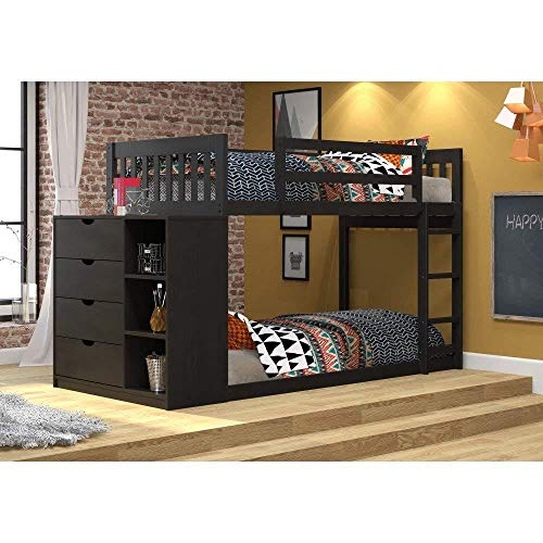 Donco Kids 1600-TTBB Mission Chest Bunk Bed Twin/Twin Black Brown