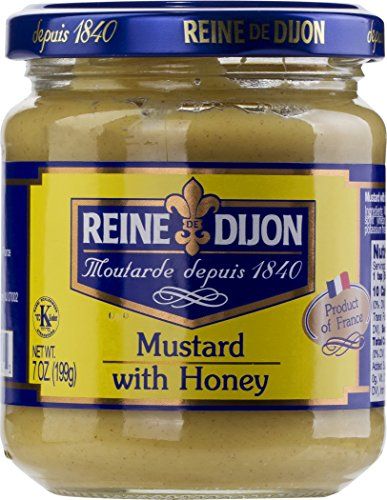 Reine de Dijon Mustard with honey (1 Pack)