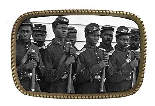 Civil War Buffalo Soldiers BRASS BELT Buckle Made In The USA - Buffalo Buckle