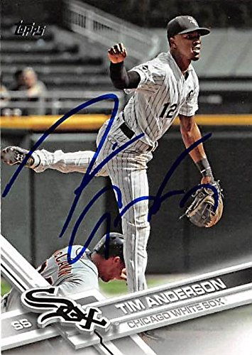 Tim Anderson autographed baseball card (Chicago White Sox SS) 2017 Topps #148 - Baseball Slabbed Autographed Cards