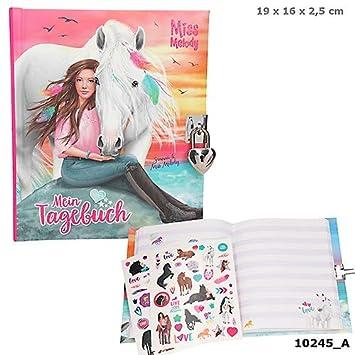 Miss Melody Tagebuch Mit Stickern Motiv 2 Pferd U Mädchen Im