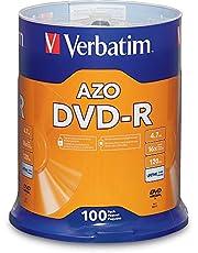 Verbatim DVD-R 4.7GB 16x AZO Recordable Media Disc - 100 Disc Spindle
