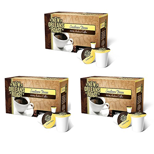 New Orleans Roast Coffee & Tea Southern Pecan Single Cups, 12 Counts, Pack of - New Orleans Roasted Coffee