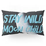 Society6 Stay Wild Moon Child (half Moon) Pillow Sham King (20'' x 36'') Set of 2