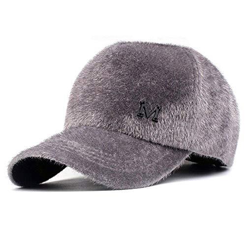 LIULIULIUWomen Letter M Decoration Mink Cashmere Cap Fashion Solid Color Baseball Cap Topee - Baseball Cap Cashmere
