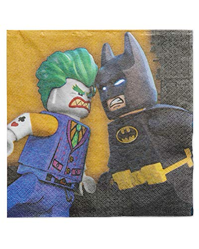 American Greetings Lego Batman Party Supplies, Paper Lunch Napkins, 48-Count -