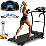 PrestigeSports XM-PROIII Treadmill 2019 Model Motorised Running Machine, Folding, 12KPH Speed, 3 Level Manual Incline,Speakers, Auto Lube, 12 Auto + 1 Manual Program, Pulse Sensors