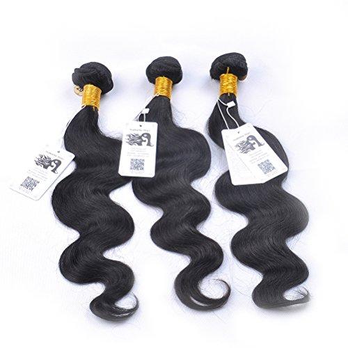 "ISABELLE HAIR Grade AAAAAAA 7A 3 Bundles 300 Grams Unprocessed Brazilian Virgin Hair Body Weave 10"" to 24"" Human Hair Extensions 10 12 14"