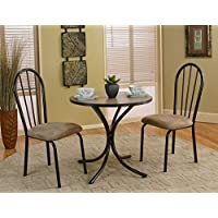 3 Piece 30 x 30 Round Bistro Dining Set with Laminate Top (Table and 2 Chairs)
