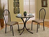 3 Piece 30″ x 30″ Round Bistro Dining Set with Laminate Top (Table and 2 Chairs)