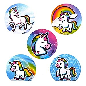 Novelty Treasures Mystical Unicorn Party Set 100 Sticker Roll and 144 Tattoos
